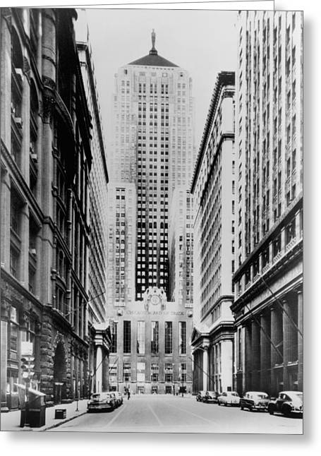 Lasalle Street Greeting Cards - Vintage Chicago Board of Trade Greeting Card by Horsch Gallery