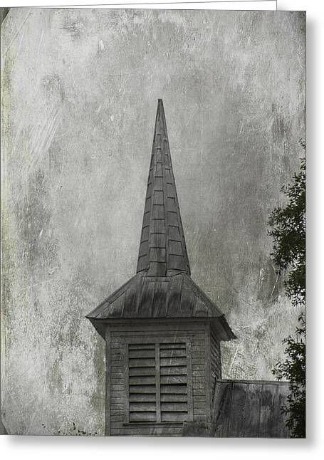 Tin Roof Greeting Cards - Vintage Church Greeting Card by Judy Hall-Folde