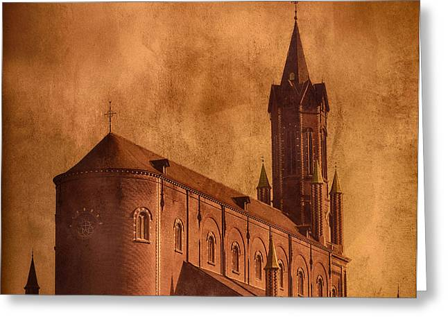Historical Pictures Greeting Cards - Vintage Church Greeting Card by Wim Lanclus