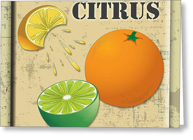 Lori Malibuitalian Greeting Cards - Vintage Citrus Label Greeting Card by Lori Malibuitalian