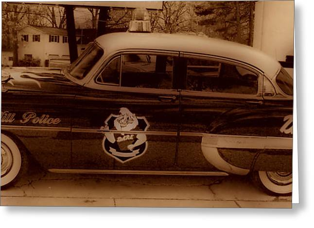 New To Vintage Photographs Greeting Cards - Vintage Classic D.A.R.E. Police Car Greeting Card by Thomas  MacPherson Jr