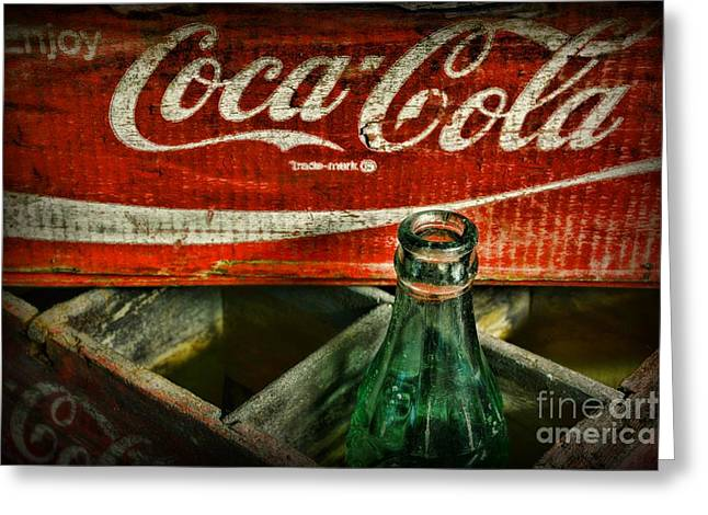 Soft Drink Greeting Cards - Vintage Coca-Cola Greeting Card by Paul Ward