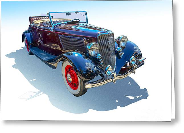 Runner Greeting Cards - Vintage Convertible Greeting Card by Anthony Sell