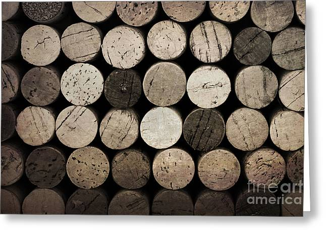 Cabernet Greeting Cards - Vintage corks Greeting Card by Jane Rix