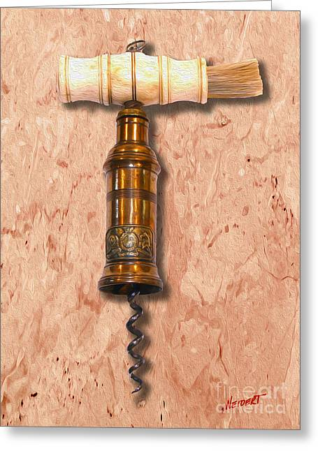 Napa Valley Vineyard Greeting Cards - Thomason Corkscrew Circa 1802 Greeting Card by Jon Neidert