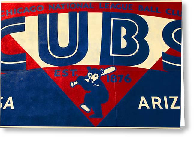 Cubs Baseball Park Greeting Cards - Vintage Cubs Spring Training Sign Greeting Card by Stephen Stookey