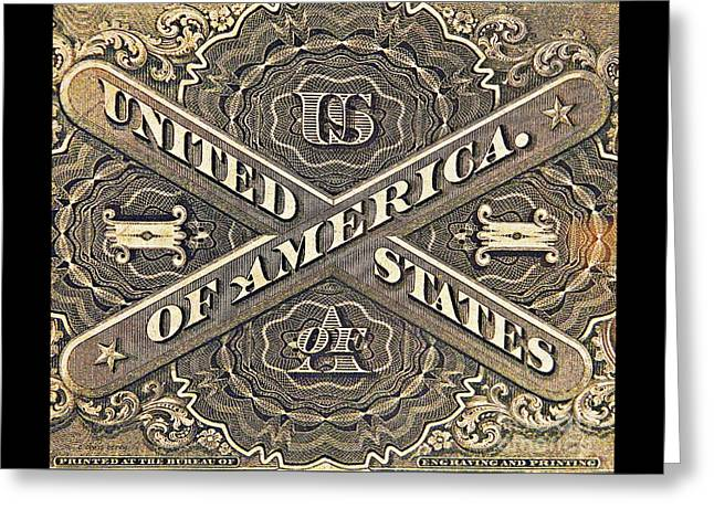 Paper Money Greeting Cards - Vintage Currency  Greeting Card by Chris Berry