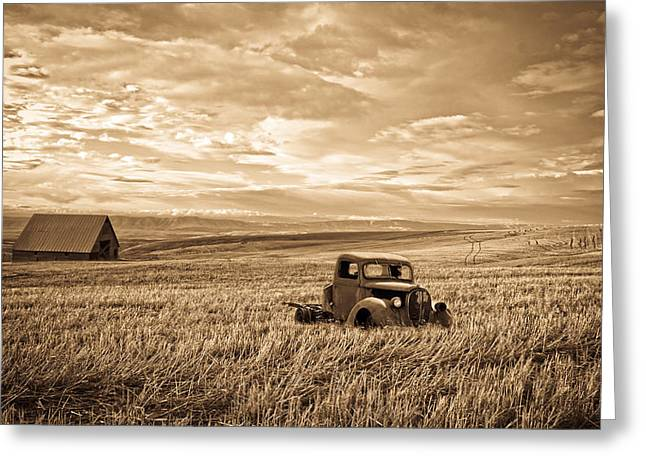 32 Ford Truck Greeting Cards - Vintage Days Gone By Greeting Card by Steve McKinzie