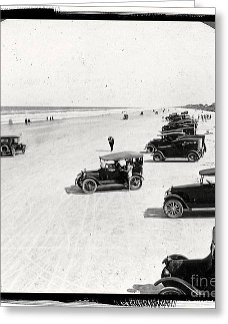 Best Sellers -  - Ford Model T Car Greeting Cards - Vintage Daytona Beach Florida Greeting Card by Unknown