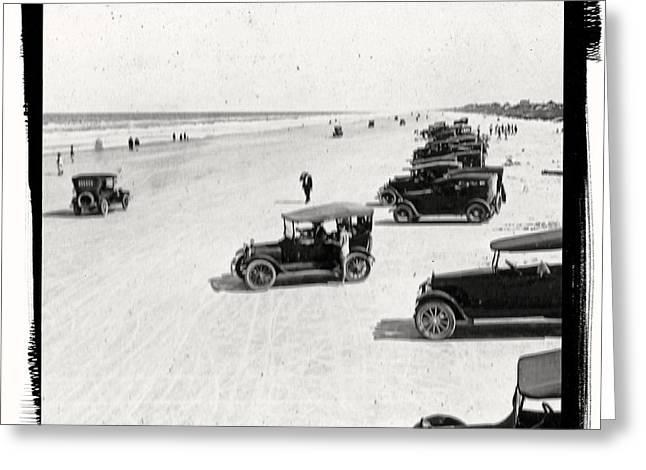 Vintage Daytona Beach Florida Greeting Card by unknown