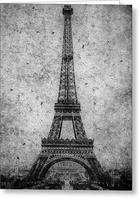 Vintage Eiffel Tower Greeting Cards - Vintage Eiffel Tower 2 Greeting Card by Andrew Fare