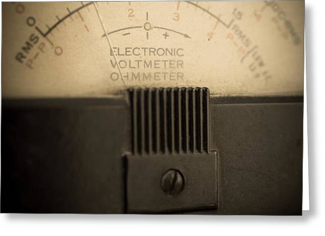 Vintage Electric Meter Greeting Card by Edward Fielding