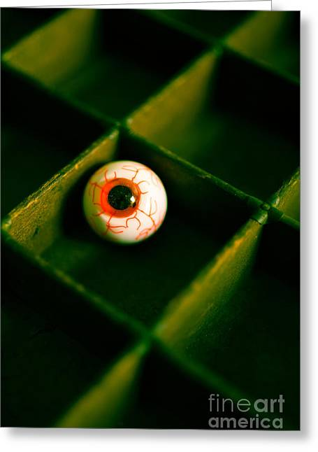 Depth Of Field Greeting Cards - Vintage fake eyeball Greeting Card by Edward Fielding