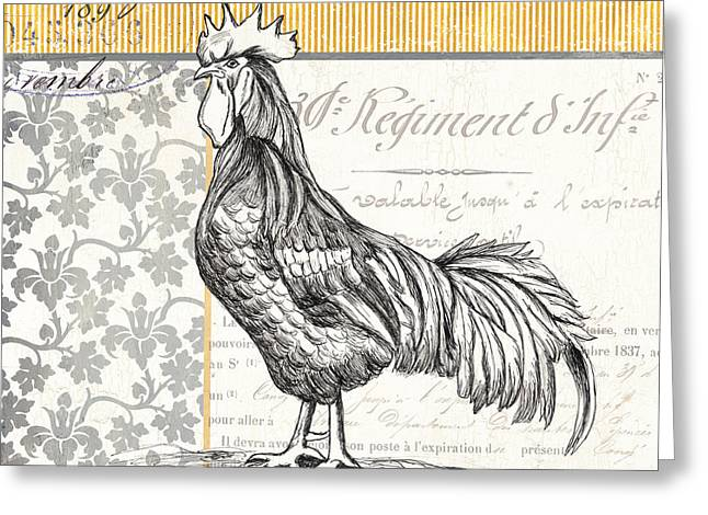 Pen And Ink Greeting Cards - Vintage Farm 2 Greeting Card by Debbie DeWitt