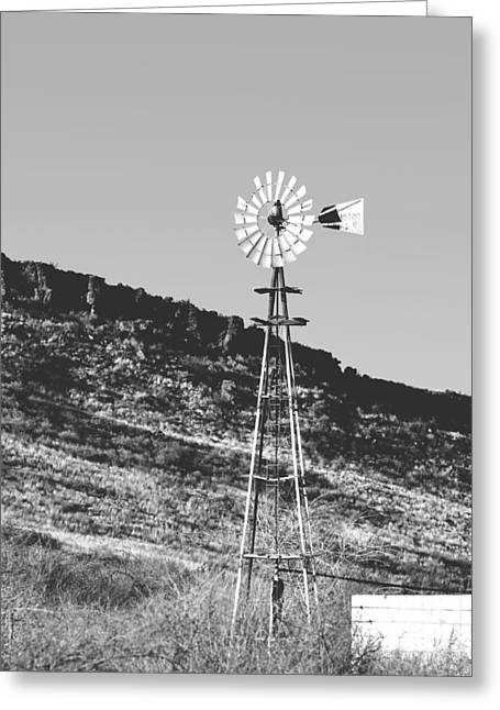 Supply Greeting Cards - Vintage Farm Windmill Greeting Card by Christine Till