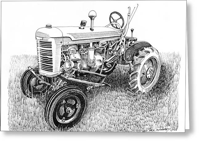 Three Speed Greeting Cards - Vintage Farmall  I H W 6 Tractor Greeting Card by Jack Pumphrey