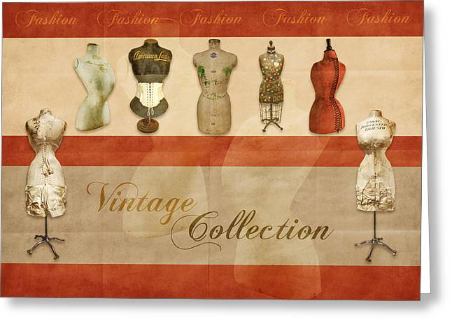 Mannequin Greeting Cards - Vintage Fashion Mannequins - 01 Greeting Card by Variance Collections