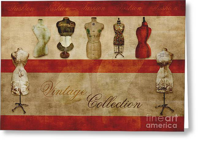 Vintage Design Greeting Cards - Vintage Fashion Mannequins - 02t Greeting Card by Variance Collections