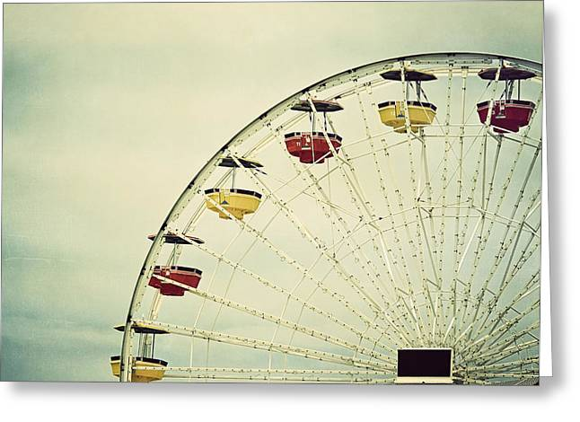Kim Photographs Greeting Cards - Vintage Ferris Wheel Greeting Card by Kim Hojnacki