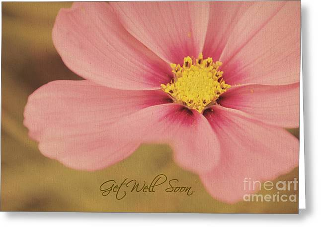 Get Greeting Cards - Vintage Floral - Get Well Soon Card Greeting Card by Aimelle
