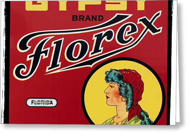 20s Greeting Cards - Vintage Florida Food Signs 2 - Gypsy Florex Brand - Square Greeting Card by Ian Monk