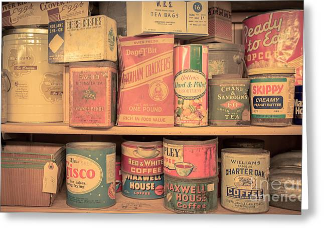 Vintage Food Pantry Greeting Card by Edward Fielding