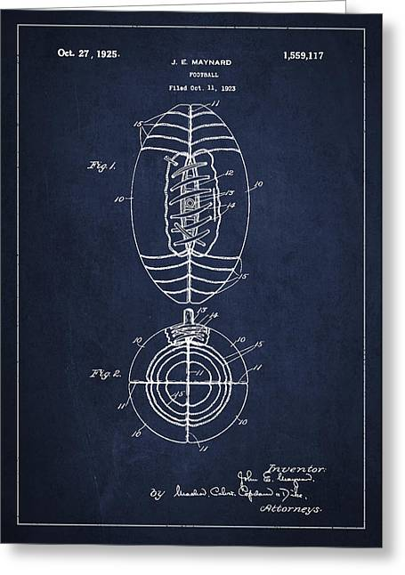 Vintage Football Patent Drawing From 1923 Greeting Card by Aged Pixel