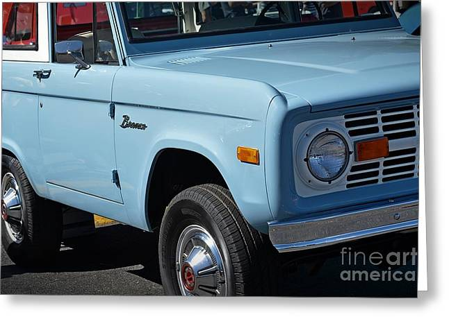 New To Vintage Photographs Greeting Cards - Vintage Ford Bronco Greeting Card by JW Hanley