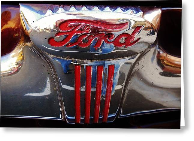 Ford Sprints Greeting Cards - Vintage Ford  Greeting Card by Mark Lemmon