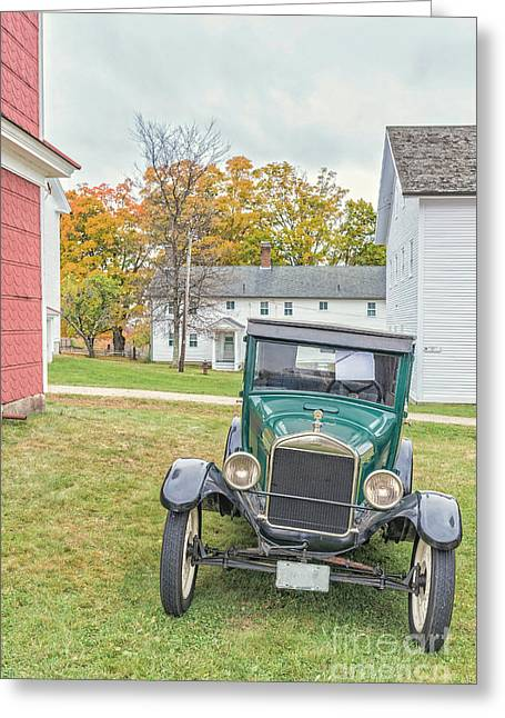 Clapboard House Greeting Cards - Vintage Ford Model A Car Greeting Card by Edward Fielding