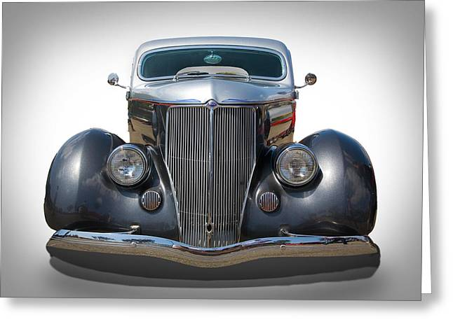 Ford Hot Rod Greeting Cards - Vintage Ford Greeting Card by Peter Tellone