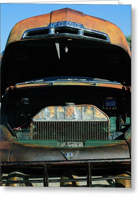 Classic Pickup Greeting Cards - Vintage Ford Pickup Truck Greeting Card by Jill Reger