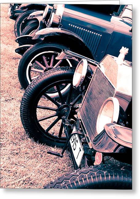 Ford Model T Car Greeting Cards - Vintage Fords Greeting Card by Phil