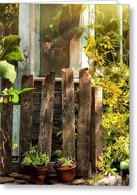 Overgrown Greeting Cards - Vintage garden Greeting Card by Simon Bratt Photography LRPS
