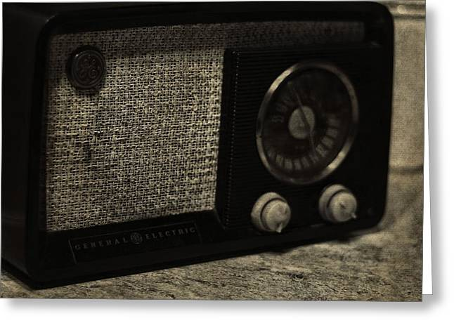 1950s Music Photographs Greeting Cards - Vintage GE Radio Greeting Card by Dan Sproul