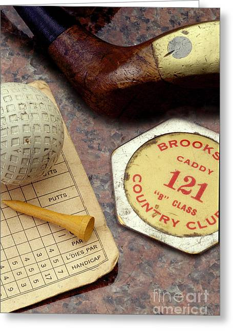 Caddy Photographs Greeting Cards - Vintage Golf Greeting Card by Jon Neidert