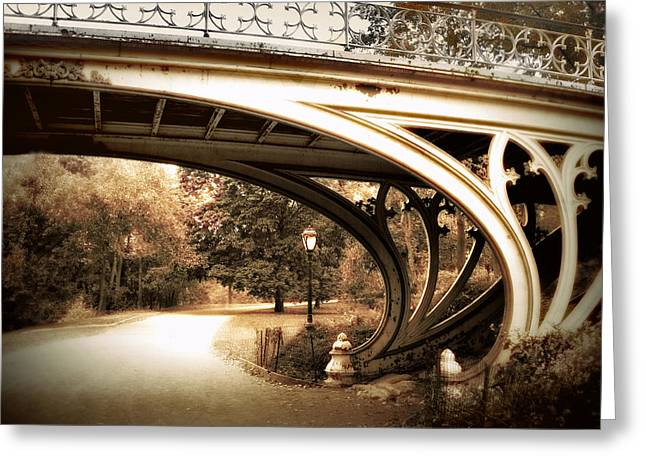Gothic Digital Greeting Cards - Vintage Gothic Bridge Greeting Card by Jessica Jenney