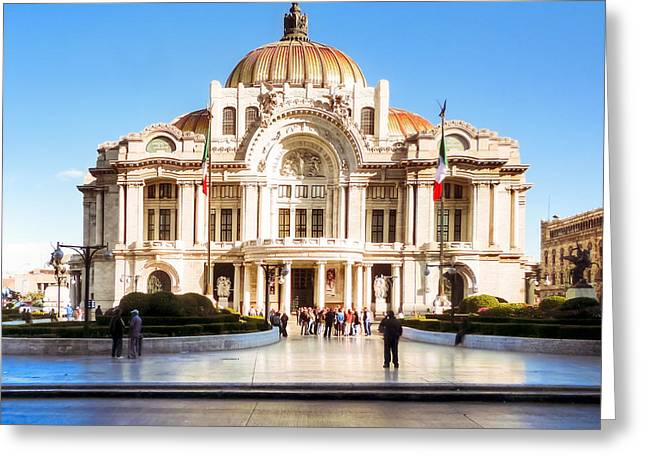 Mexico City Photographs Greeting Cards - Vintage Grandame of Mexico City Greeting Card by Mark Tisdale