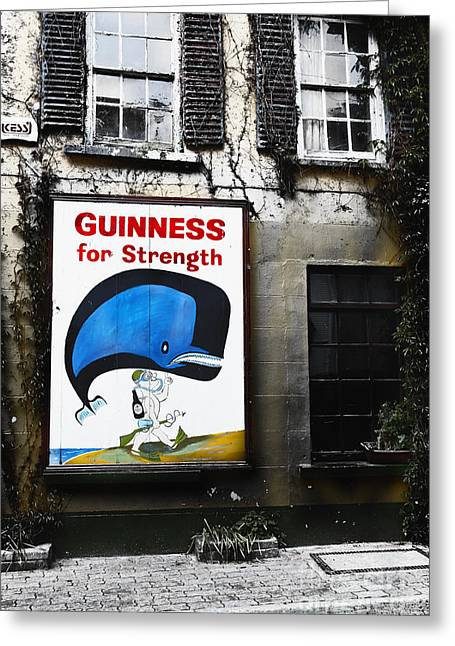 County Cork Greeting Cards - Vintage Guinness Sign  Greeting Card by George Oze