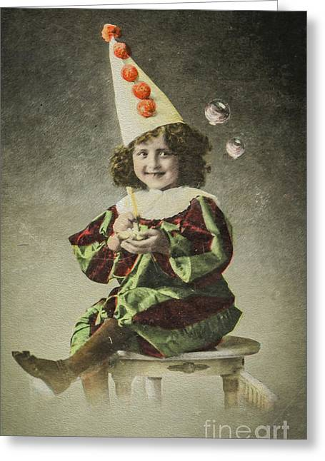 Festivities Greeting Cards - Vintage happy birthday  Greeting Card by Patricia Hofmeester