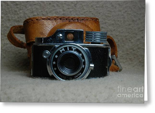 Manual Greeting Cards - Vintage HIT Camera Greeting Card by Mark McReynolds