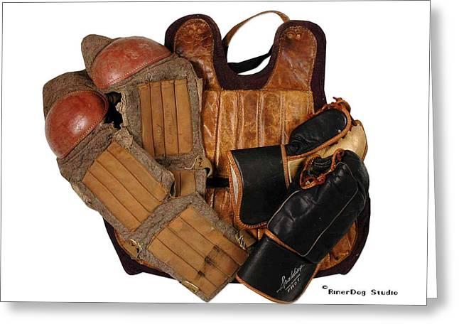 Hockey Equipment Greeting Cards - Vintage Hockey Equipment #3 Greeting Card by Spencer Hall