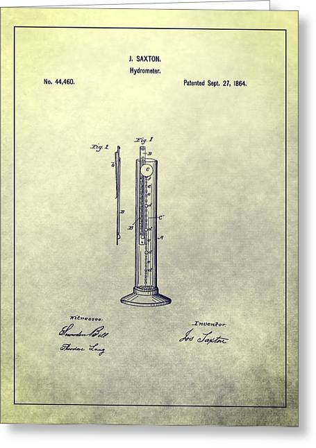 Principles Greeting Cards - Vintage Hydrometer Patent Greeting Card by Dan Sproul