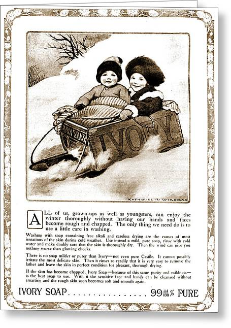 1880s Greeting Cards - Vintage Ivory Soap Advert Greeting Card by Nomad Art And  Design