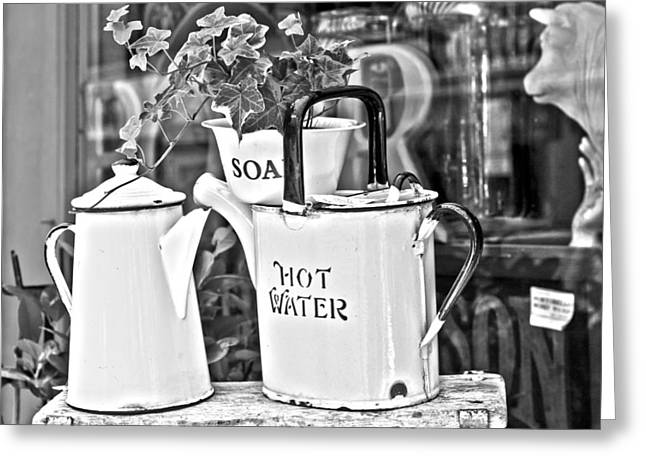 Water Jug Greeting Cards - Vintage Jugs Greeting Card by Nomad Art And  Design