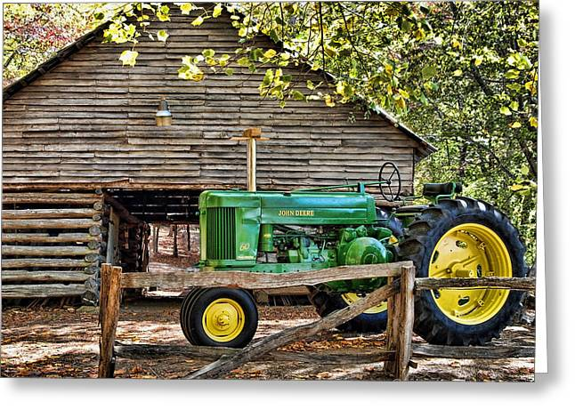 Old Barns Greeting Cards - Vintage Greeting Card by Kenny Francis