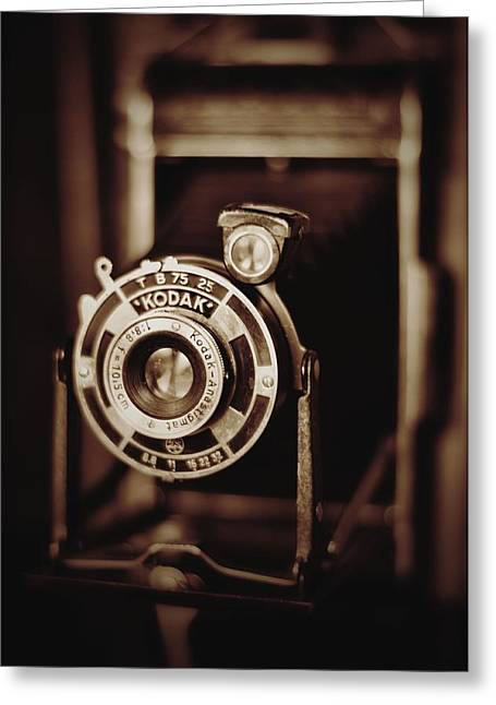 Aperture Greeting Cards - Vintage Kodak Camera Greeting Card by A R Williams