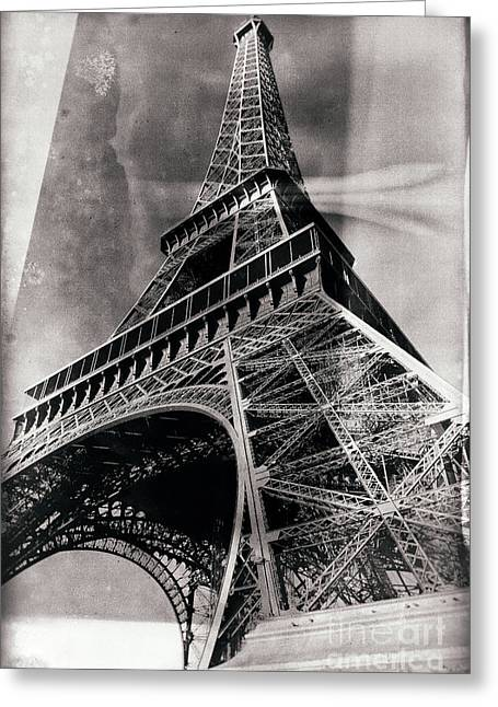 Fashion Photos For Sale Greeting Cards - Vintage la Tour Eiffel Greeting Card by John Rizzuto