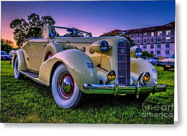 Lasalle Greeting Cards - Vintage LaSalle Convertible Greeting Card by Edward Fielding