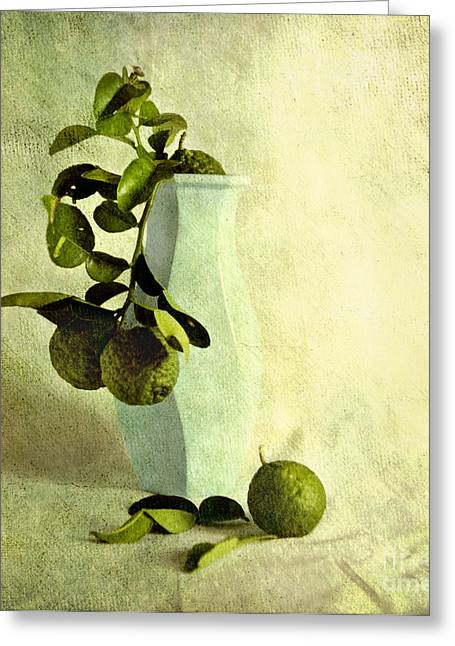 Vintage Limes Greeting Card by Linde Townsend